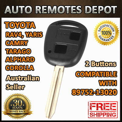 2 Buttons Remote Key CASE SHELL for TOYOTA YARIS COROLLA CAMRY RAV4 89752-13020