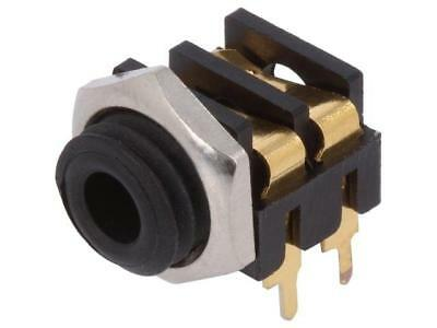 CL13845G Socket Jack 3,5mm female mono with double switch angled 90°  CLIFF