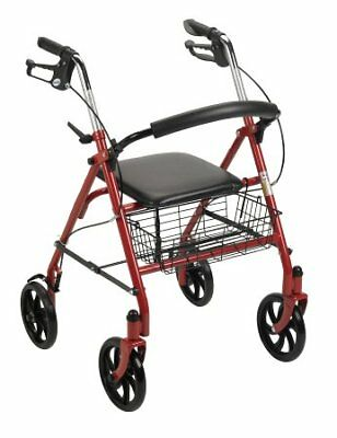 Drive Medical Fold Up And Removable Back Support Rollator NEW! 10257RD-1