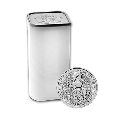 10 x 2 oz Silber Queen's Beasts Unicorn of Scotland - Großbritannien 2018