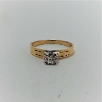 18Ct Yellow Gold Diamond Solitaire Ring Valued @$1639 Comes With Valuation