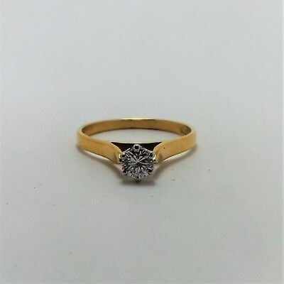 18ct YELLOW GOLD DIAMOND SOLITAIRE RING VALUED @$1809 COMES WITH VALUATION