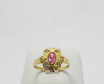 18Ct Yellow Gold Pink Gem Ring Valued At $658 Comes With Valuation