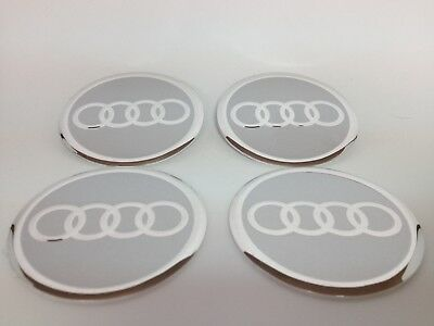 NEW 4pcs Decal Alu Stickers for Wheel Centre Cap Hubs for AUDI  - 60mm