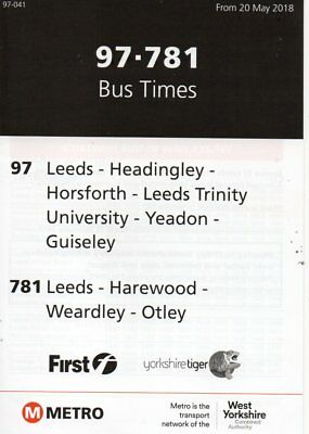 METRO-NATIONAL WEST YORKSHIRE Bus Timetable - Leeds WYPTE Timetable ...