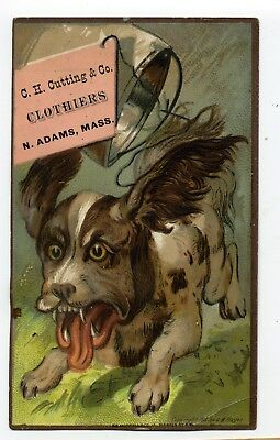 Victorian Scared Dog Runs From Tin Pail Tied To Tail, C.h. Cutting, Clothier, Ma