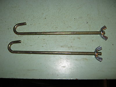 land rover series 2-3 petrol or diesel battary frame hold down metric rods x2