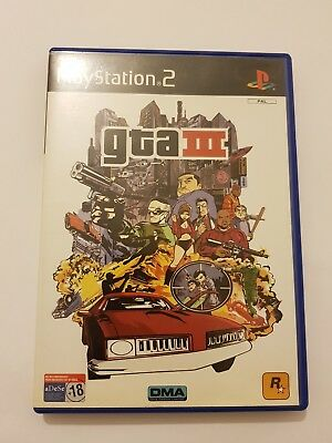 Grand Theft Auto III GTA 3 PlayStation 2  ps2 pal España y completo