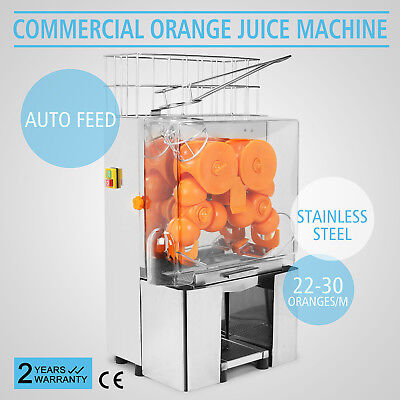 Commercial Electric Orange Squeezer Juice Lemon Citrus Auto Feed 30 oranges/min