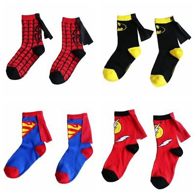 Cartoon Anime Super Hero Batman Spiderman Superman Cotton Child Fashion Socks