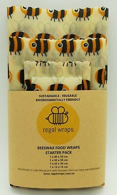 Beeswax Food Wraps 🐝 Eco Friendly 🐝 BEES 🐝 Reusable Wraps - choose your size