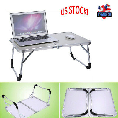 Portable Picnic Camping Folding Table Laptop Desk Stand Notebook Bed Tray US