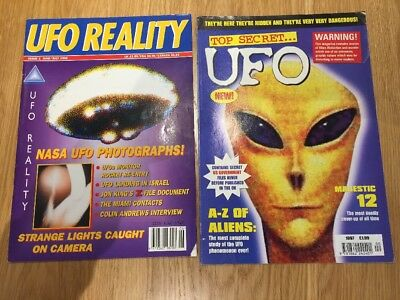 UFO Reality #2 & Top Secret UFO Magazines Aliens 1996 1997