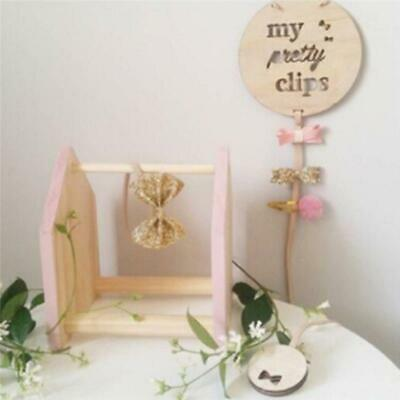 Novelty Girl Ribbon Hair Bow Hair Clip Holder Hanger Storage Organizer Decor JA