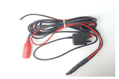 Autocom 2432 Bike Power Lead With Red Socket And PTT Switch 100mm