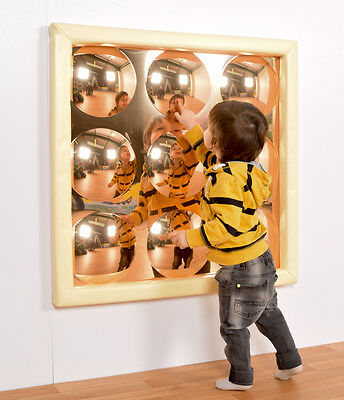 Sensory Bubble Mirror, Gold Mirror, Special Needs, State Colour (M3012GOLD)