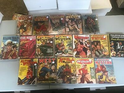 Western pulp magazines and hardcover books
