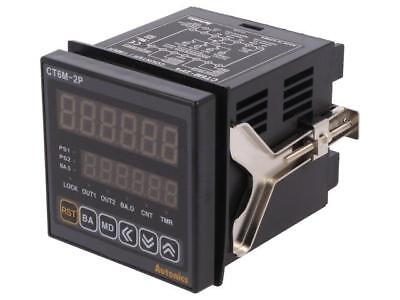 CT6M-2P4 Counter electronical 2x LED time/pulses SPST Cutout68x68mm  AUTONICS