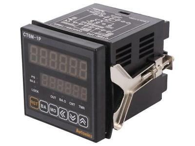 CT6M-1P2 Counter electronical 2x LED time/pulses SPDT Cutout68x68mm  AUTONICS
