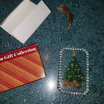 Avon Gift Collection Lead Crystal Tree Ornament 1987 Christmas