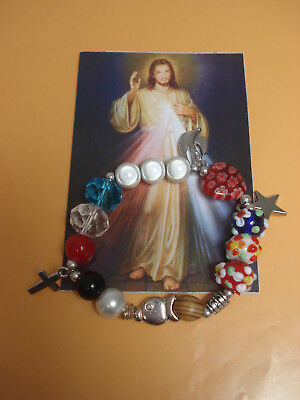 Story of Jesus Bracelet The Most Beautiful Story in the World Murano Olive Wood