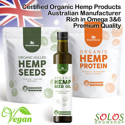 Hemp Seeds Oil Protein Australian Certified Organic Vegan Food Hemperium