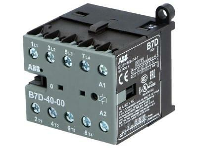 B7D-40-00-01 Contactor 4-pole 24VDC 7A NO x4 DIN, on panel Series B7D  ABB