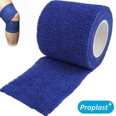 Blue SUPPORT BANDAGE 7cm x 4m Flexible Cohesive Adhesive Sport Rugby Tape/Gauze