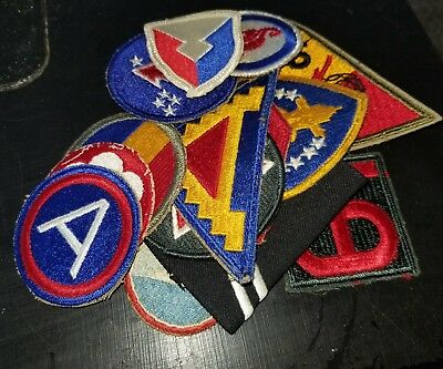 WWII US Army AAC Infantry Division Command Base Chevrons Patch Lot