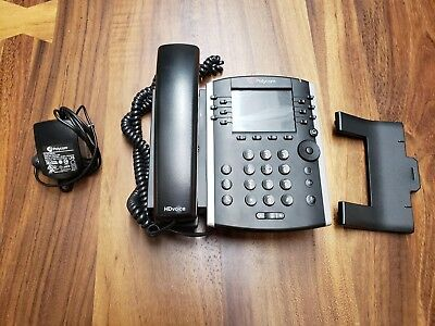 Polycom VVX 400 VoIP Office Phones (2201-46104-001) With a Power Supply