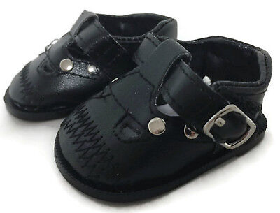 Black Dress Shoes with Studs fits 18 inch American Girl Doll Clothes