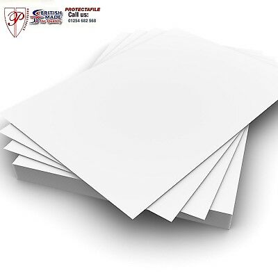 100 Sheets High Quality Smooth Coloured White Card / Paper 300Gsm A1/A2/A3/A4