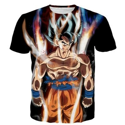 New Dragon Ball Super Ultra Instinct Goku Dbz Tee T Shirt Uk Stock