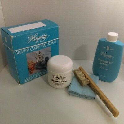 W. J. Hagerty Complete 4-Piece Silver Care Package Polish Cleaner