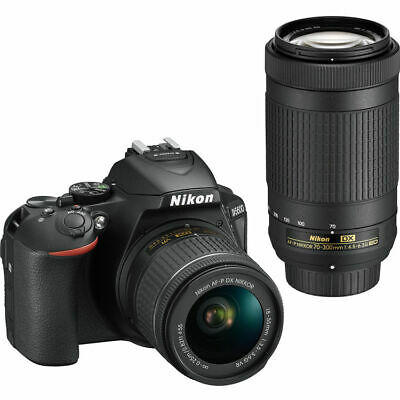 Nikon D5600 Digital SLR Camera with AF-P DX Nikkor 18-55 and 70-300 ED Lenses