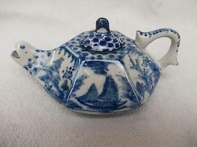467 / Vintage Vietnamese Pottery Teapot With The Spout In The Form Of A Head