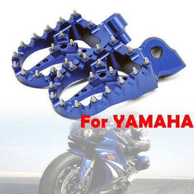 For Yamaha YZ125 YZ250 YZ450 YZF WRF Foot pegs Footrests WIDE FAT Anodized Blue