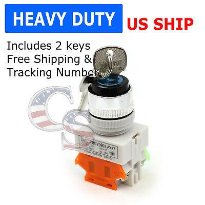 Key On/Off Locking Switch Security Lock Heavy Duty Power Ignition LAY7-11Y/2