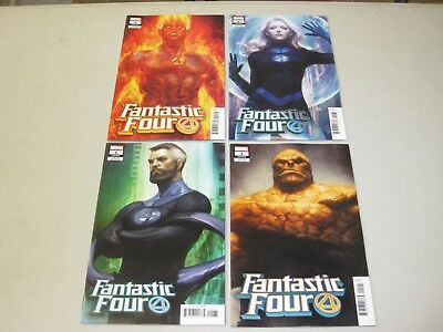 Fantastic Four # 1 - Stanley Lau Artgerm Variant Set Of 4 Books - Nm