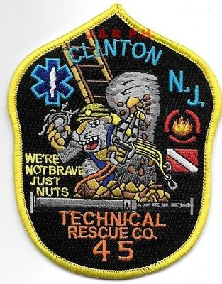 """Clinton  Technical Rescue Co. - 45, New Jersey (3.5"""" x 4.5"""" size) fire patch"""