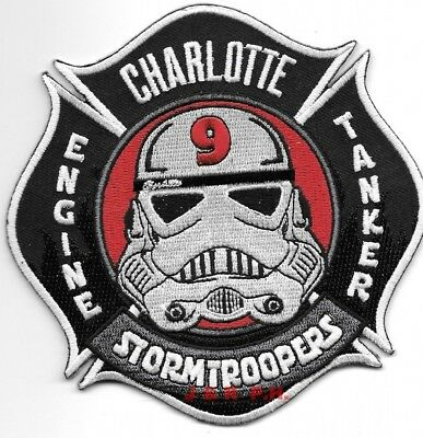 """Charlotte  Station - 9, NC  """"Stormtroopers"""" (4.5"""" x 4.5"""") fire patch"""