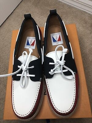 ee1373212908 Brand New Louis Vuitton Americas Cup Collection Regatta Mens Boat Shoes Size  12