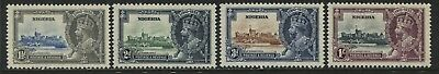 Nigeria KGV 1935 Silver Jubilee set of 4 mint o.g. hinged