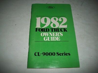 Nos 1982 Ford Cl-9000 Heavy Truck Owner Operators Manual Nos