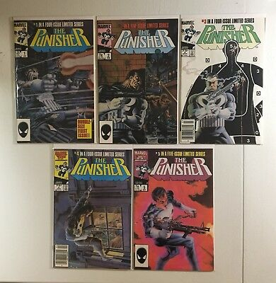 The Punisher #1-5 Limited Series Complete Set! 1986! Copper Age! No Reserve!