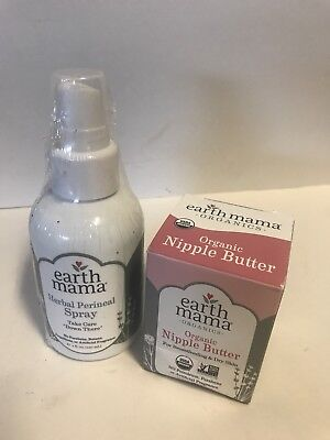 Earth Mama Herbal Perineal Spray And Nipple Butter Earth Mama Angel Baby, 4 oz