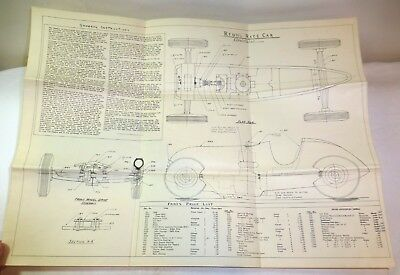 Cox gas powered tether car chassis w engine for restopartsblue 1940s reuhl race car prototype blueprint price list tether car model malvernweather Image collections