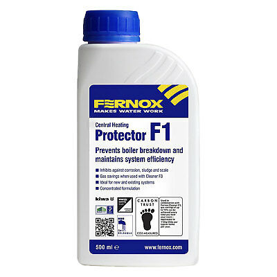 Fernox F1 500 ml Central Heating Protector Boiler Clean Sludge Scale