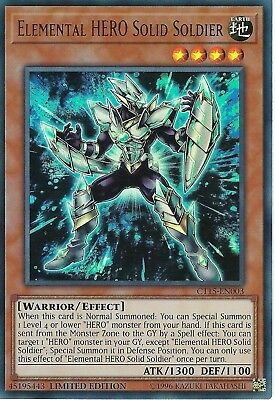 Yu-Gi-Oh: Elemental HERO Solid Soldier - CT15-EN003 - Ultra Rare Card - Lim Ed