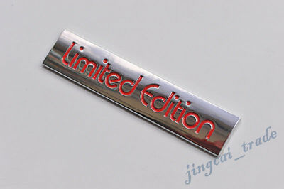 Red Limited Edition Logo 3D Metal Car Auto Emblem Badge Decal Sticker for VW